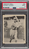 Baseball Cards:Singles (1930-1939), 1939 Play Ball Johnny Cooney (All Caps) #85 PSA Mint 9 - Pop Two, None Higher. ...