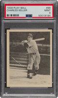 Baseball Cards:Singles (1930-1939), 1939 Play Ball Charlie Keller (All Caps) #88 PSA Mint 9 - Pop One, None Higher. ...