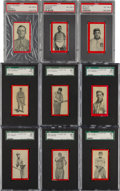 Baseball Cards:Lots, 1910 T210 Old Mill Graded Collection (9). ... (Total: 9 items)