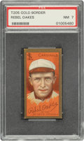 Baseball Cards:Singles (Pre-1930), 1911 T205 Gold Border Rebel Oakes PSA NM 7 - Pop Three, Only One Higher. ...