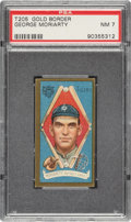 Baseball Cards:Singles (Pre-1930), 1911 T205 Gold Border George Moriarity PSA NM 7 - None Higher. ...