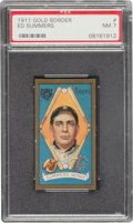 Baseball Cards:Singles (Pre-1930), 1911 T205 Gold Border Ed Summers PSA NM 7 - None Higher. ...
