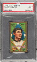 Baseball Cards:Singles (Pre-1930), 1911 T205 Gold Border Harry Wolter PSA NM 7 - Only One Higher. ...