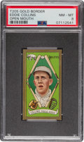 Baseball Cards:Singles (Pre-1930), 1911 T205 Gold Border Eddie Collins (Open Mouth) PSA NM-MT 8 - The Highest Graded Example! ...