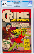 Golden Age (1938-1955):Crime, Crime Mysteries #5 (Ribage Publishing, 1953) CGC VG+ 4.5 Cream to off-white pages....