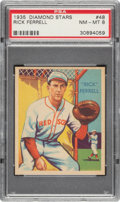 Baseball Cards:Singles (1930-1939), 1934-36 Diamond Stars Rick Ferrell (1935) #48 PSA NM-MT 8. ...