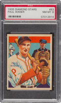 Baseball Cards:Singles (1930-1939), 1934-36 Diamond Stars Paul Waner (1935 Green) #83 PSA NM-MT 8. ...