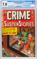 Golden Age (1938-1955):Crime, Crime SuspenStories #9 (EC, 1952) CGC FN/VF 7.0 Cream to off-white pages....