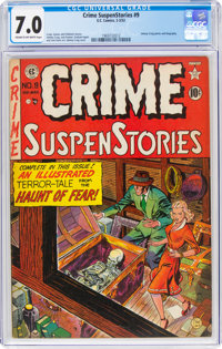 Crime SuspenStories #9 (EC, 1952) CGC FN/VF 7.0 Cream to off-white pages