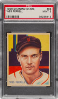 Baseball Cards:Singles (1930-1939), 1934-36 Diamond Stars Wes Farrell #94 PSA Mint 9 - Pop Two, None Higher. ...