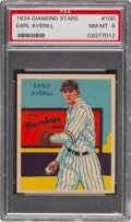 Baseball Cards:Singles (1930-1939), 1934-36 Diamond Stars Earl Averill #100 PSA NM-MT 8 - None Higher. ...