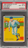 Baseball Cards:Singles (1930-1939), 1934-36 Diamond Stars Dick Bartell #101 PSA NM-MT 8 - Only One Higher. ...
