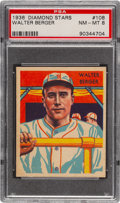 Baseball Cards:Singles (1930-1939), 1934-36 Diamond Stars Walter Berger #108 PSA NM-MT 8 - None Higher. ...