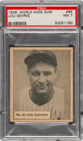 Baseball Cards:Singles (1930-1939), 1936 World Wide Gum Lou Gehrig #96 PSA NM 7 - Pop One, None Higher!...