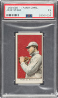 Baseball Cards:Singles (Pre-1930), 1909-11 E90-1 American Caramel Jake Stahl PSA EX 5 - Pop Three, None Higher. ...