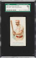 Baseball Cards:Singles (Pre-1930), 1887 N28 Allen & Ginter Capt. Jack Glasscock SGC 84 NM 7 - Pop Three, One Higher. ...
