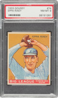 Baseball Cards:Singles (1930-1939), 1933 Goudey Eppa Rixey #74 PSA NM-MT 8 - None Higher....