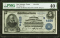 National Bank Notes:Texas, San Antonio, TX - $5 1902 Date Back Fr. 593 The Alamo National Bank Ch. # (S)4525 PMG Extremely Fine 40 EPQ.. ...