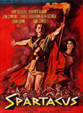 """Movie Posters:Action, Spartacus (Universal International, 1961). Very Fine on Linen. Full-Bleed French Grande (46"""" X 62.5"""") Rene Peron Artwork.. ..."""