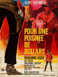 "A Fistful of Dollars (United Artists, 1966). Folded, Very Fine+. Full-Bleed French Grande (46"" X 61"") Vanni Te..."