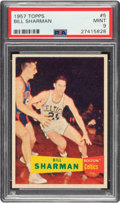 Basketball Cards:Singles (Pre-1970), 1957 Topps Bill Sharman #5 PSA Mint 9 - None Higher....