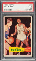 Basketball Cards:Singles (Pre-1970), 1957 Topps Bill Russell #77 PSA EX+ 5.5....