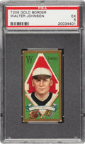 Baseball Cards:Singles (Pre-1930), 1911 T205 Gold Border Walter Johnson PSA EX 5....