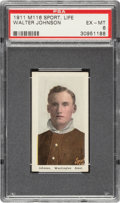 Baseball Cards:Singles (Pre-1930), 1910-11 M116 Sporting Life Walter Johnson (Pastel Background) PSA EX-MT 6....