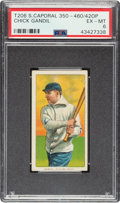 Baseball Cards:Singles (Pre-1930), 1909-11 T206 Sweet Caporal 350/460/42OP Chick Gandil PSA EX-MT 6 - Only Four Confirmed! ...