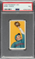 Baseball Cards:Singles (Pre-1930), 1909-11 T206 Piedmont 350 Rebel Oakes PSA NM 7. ...