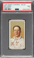 Baseball Cards:Singles (Pre-1930), 1909-11 T206 Sweet Caporal 150/30 Red Ames (Portrait) PSA NM 7. ...