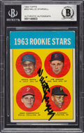 Autographs:Sports Cards, Signed 1963 Topps Willie Stargell #553 Beckett Authentic....