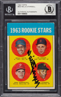 Signed 1963 Topps Willie Stargell #553 Beckett Authentic