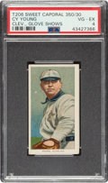 Baseball Cards:Singles (Pre-1930), 1909-11 T206 Sweet Caporal 350/30 Cy Young (Glove Shows) PSA VG-EX 4. ...