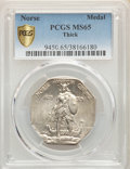 1925 Medal Norse, Thick Planchet, MS65 PCGS. PCGS Population: (258/52). NGC Census: (203/45). MS65. Mintage 31,750