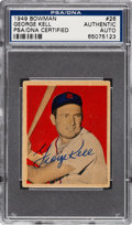 Autographs:Sports Cards, Signed 1949 Bowman George Kell #26 PSA/DNA Authentic....