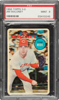 Baseball Cards:Singles (1960-1969), 1968 Topps Test 3-D Jim Maloney PSA Mint 9. ...