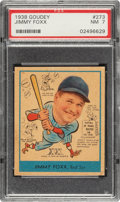Baseball Cards:Singles (1930-1939), 1938 Goudey Jimmy Foxx #273 PSA NM 7....