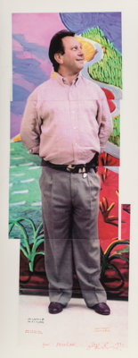 David Hockney (b. 1937) Untitled (Michael Roth), 1991 Collage on paper with digital pigment prints 29-3/4 x 11-5/8 in
