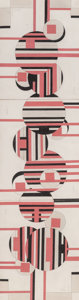 Works on Paper, Sandu Darie (1908-1991). Untitled. Ink and pencil with collage on paper laid on board. 41-1/4 x 11 inches (104.8 x 27.9 ...