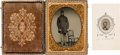 Photography:Ambrotypes, Ambrotype And Tintype Of John H. Hildreth (POW) 42nd Mass. Infantry.. ...