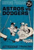 Explorers:Space Exploration, Baseball: Houston Astros at Home in the Astrodome vs. the Los Angeles Dodgers, 1967 Season Souvenir Program, Directly From...