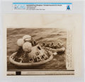 "Explorers:Space Exploration, AP Original Wirephotos: ""Astronauts Sit in Raft"" 1969, Directly From The Armstrong Family Collection™, CAG Certified. ..."