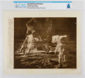 """Explorers:Space Exploration, AP Original Wirephotos: """"Dancing on the Moon"""" July 20, 1969, Directly From The Armstrong Family Collection™, CAG Certified..."""