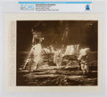 "Explorers:Space Exploration, AP Original Wirephotos: ""Stars and Stripes on Moon"" July 20, 1969, Directly From The Armstrong Family Collection™, CAG Cer..."