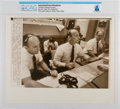 "Explorers:Space Exploration, AP Original Wirephotos: ""Conrad at Mission Control"" July 20, 1969, Directly From The Armstrong Family Collection™, CAG Cer..."