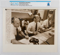 "AP ORIGINAL WIREPHOTOS: ""Conrad at Mission Control"" July 20, 1969, Directly From The Armstrong Family Collecti..."