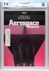 Magazines: Aerospace America Dated October 1987, Directly From The Armstrong Family Collection™, CAG Certified and