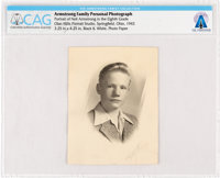 Armstrong Family Photo: Photographic Portrait of Neil Armstrong in the Eighth Grade 1943 Directly From The Armstrong Fam...