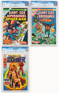 Marvel Silver and Bronze Age Comics CGC-Graded Group of 3 (Marvel, 1969-74).... (Total: 3 Comic Books)